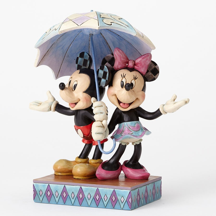 Mickey and Minnie Umbrella - Jim Shore Disney Traditions Figurine