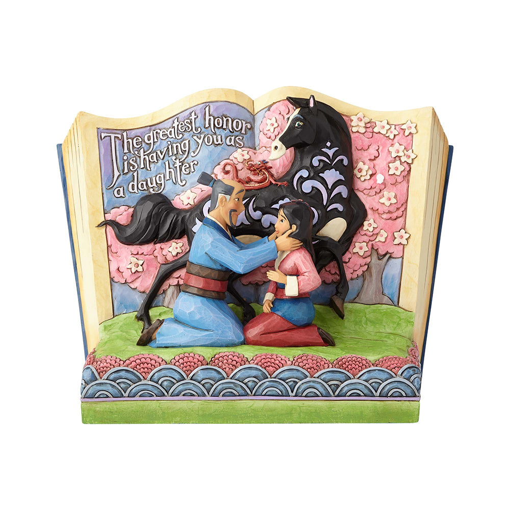 Mulan Story Book - Jim Shore Disney Traditions Figurine