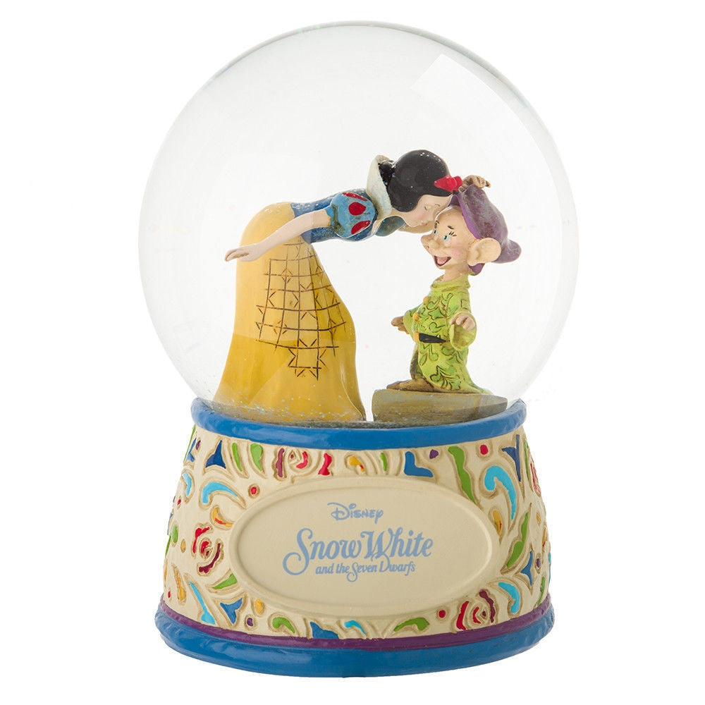Snow White and Dopey 80th Anniversary - Jim Shore Disney Traditions Snowglobe