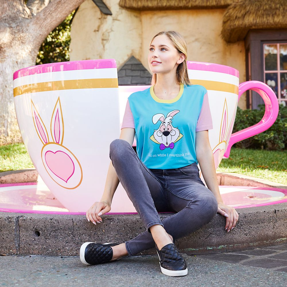 White Rabbit ''Overthink This'' T-Shirt for Women – Alice in Wonderland