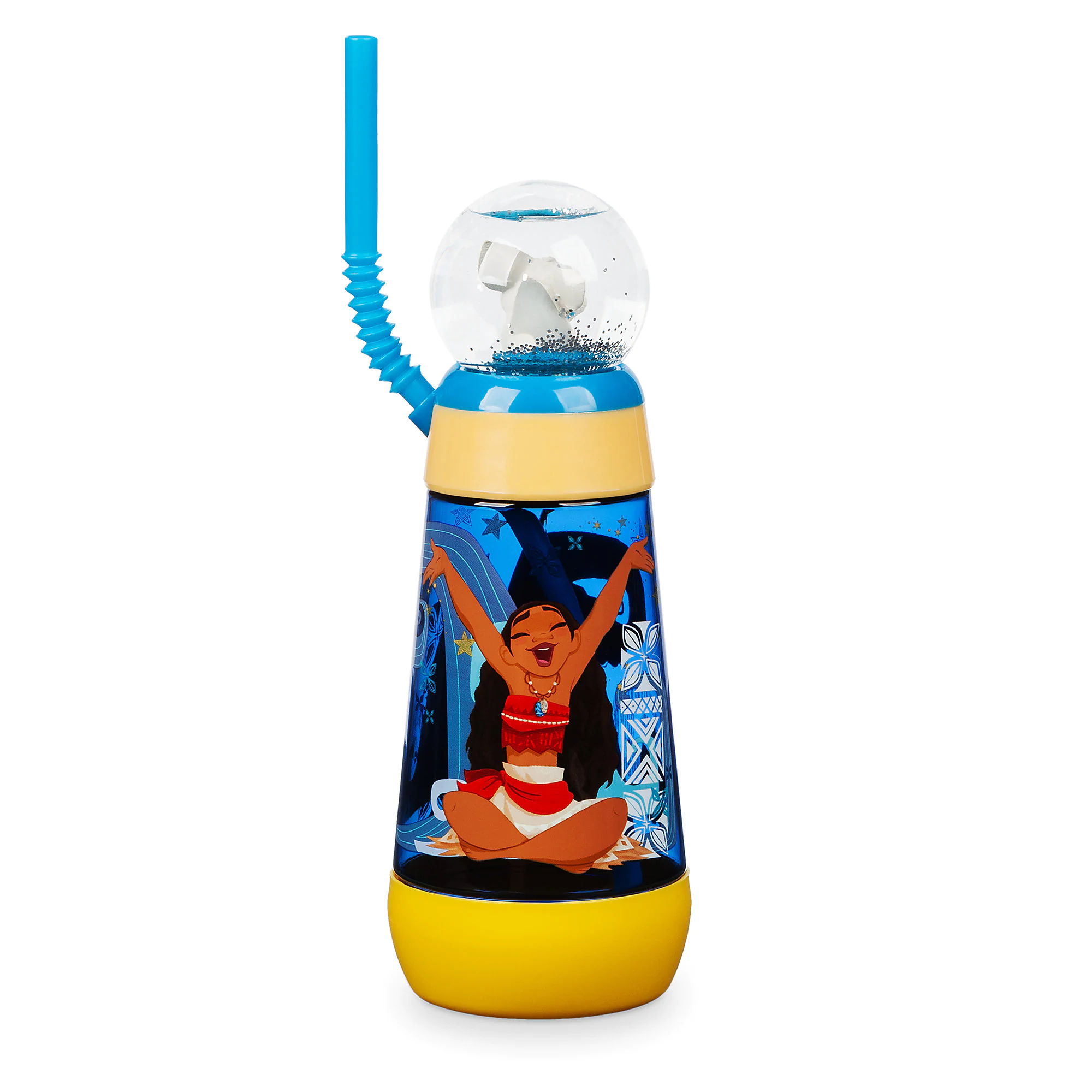 Moana Snowglobe Tumbler with Straw