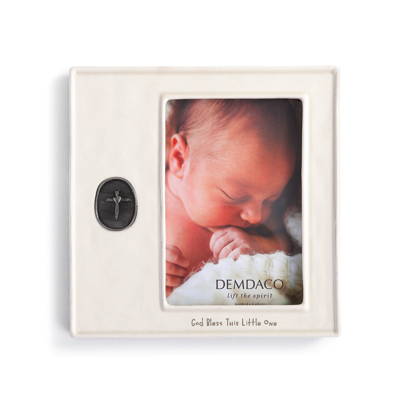 God Bless Little One Medallion Frame - DEMDACO