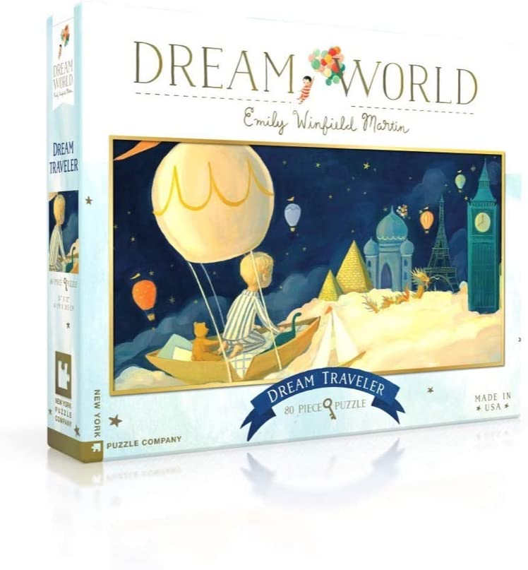 New York Puzzle Company - Dream World Dream Traveler - 80 Piece Jigsaw Puzzle