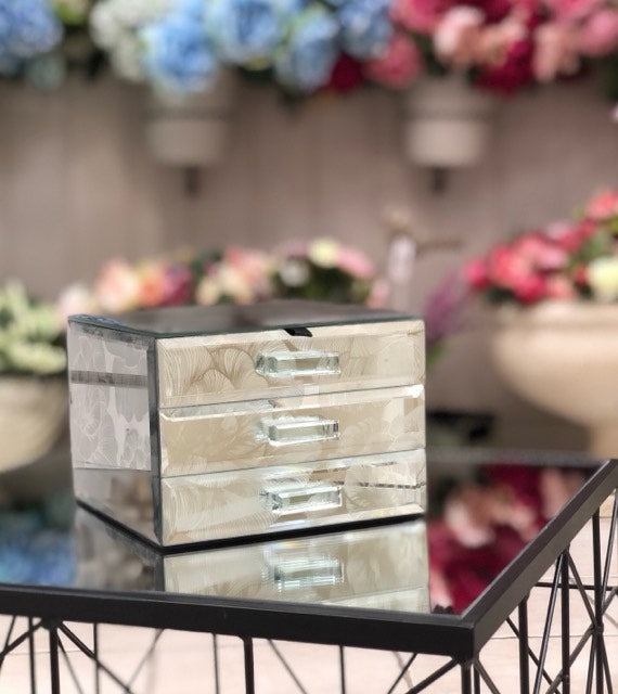 Wholly Rose Jewellery Box with 2 Drawer