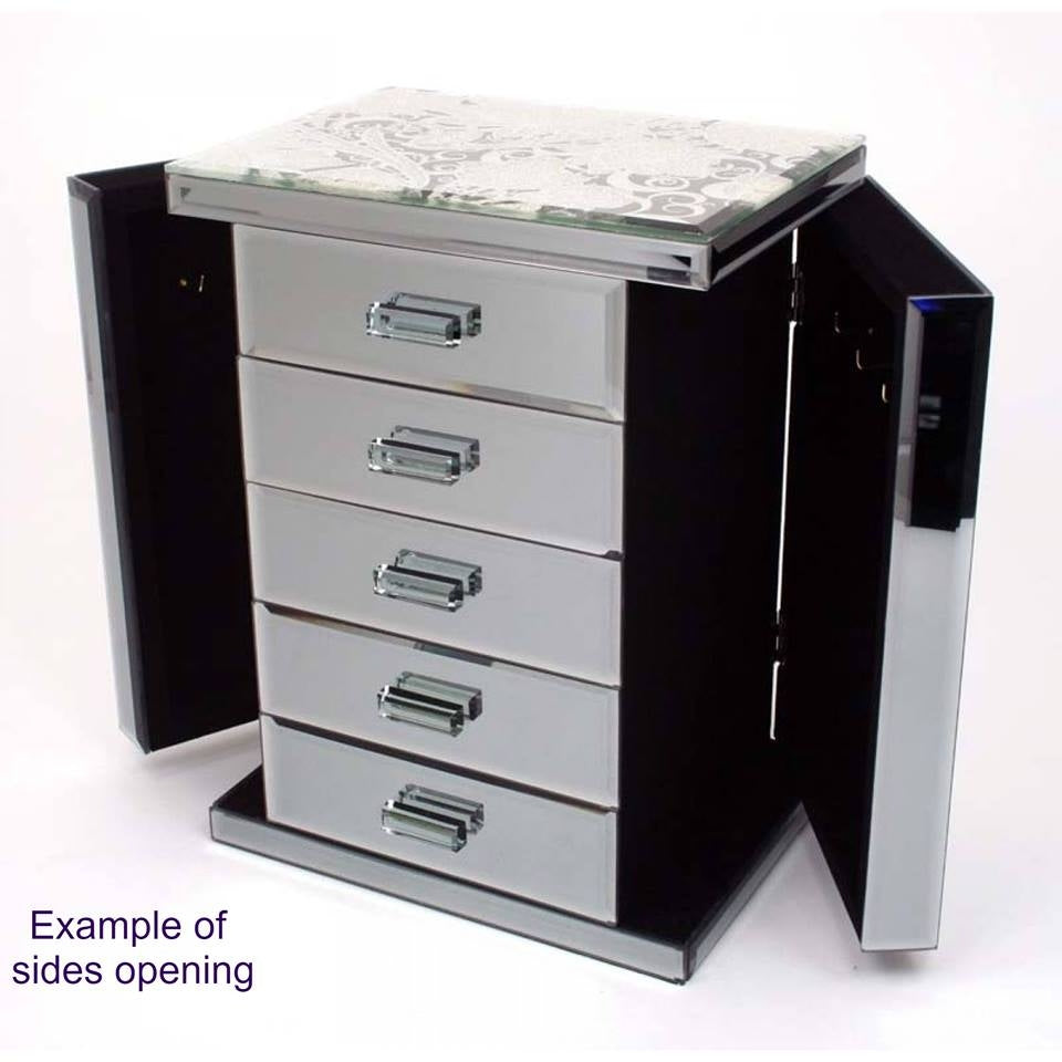 Mirrored Dreams Table Top Jewellery Cabinet