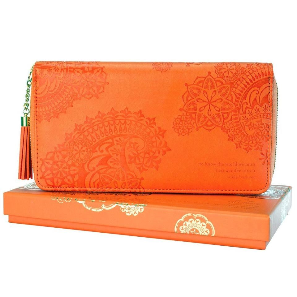 Persimmon Travel Clutch Adele Basheer