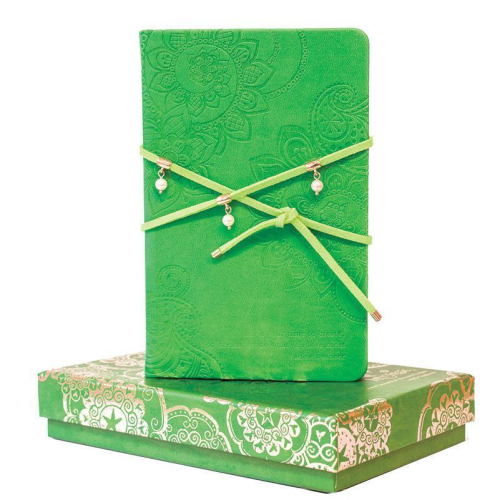 Journal with Pearl Wrap Kelly Green