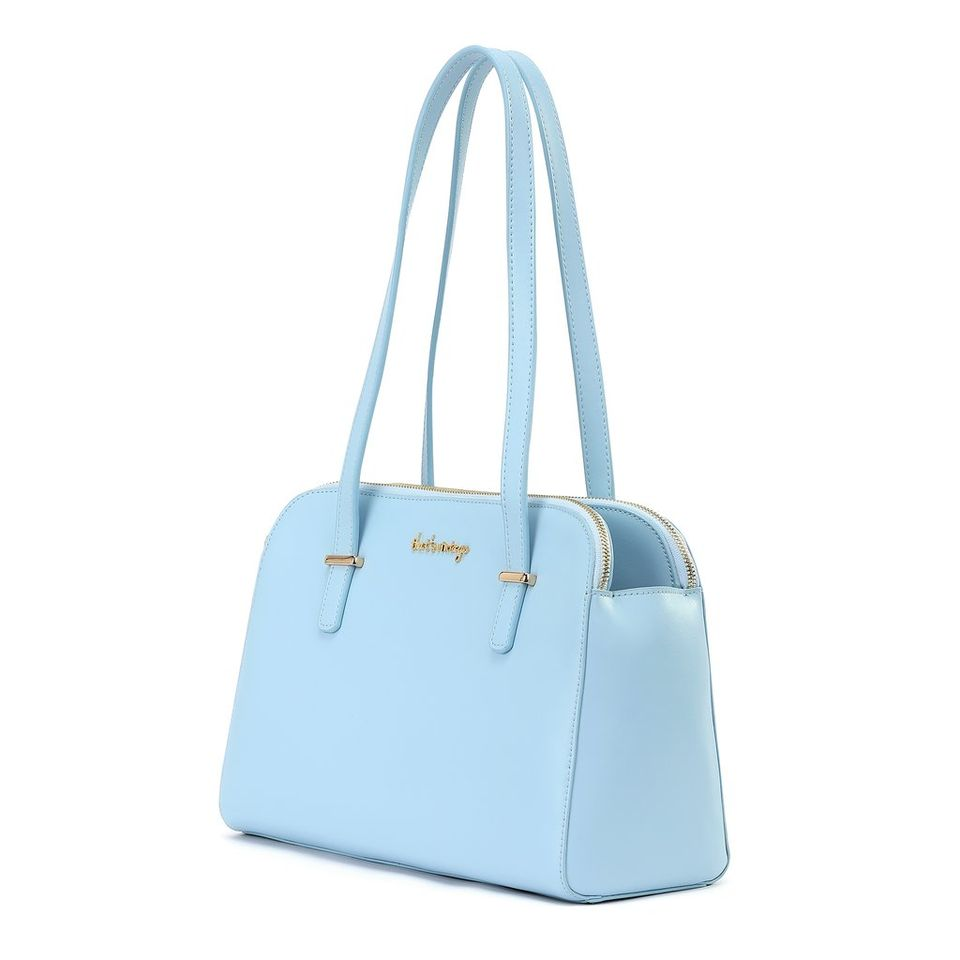 Powder Blues blue: That's Vintage leather handbag