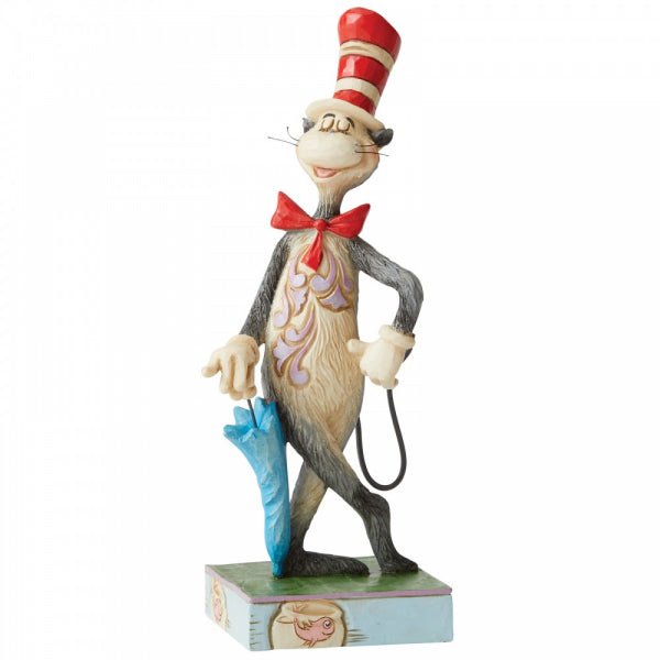 Dr Seuss by Jim Shore - 16.5cm Cat In The Hat With Umbrella