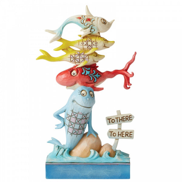 Dr Seuss by Jim Shore - 16cm One Fish, Two Fish, Red Fish, Blue Fish