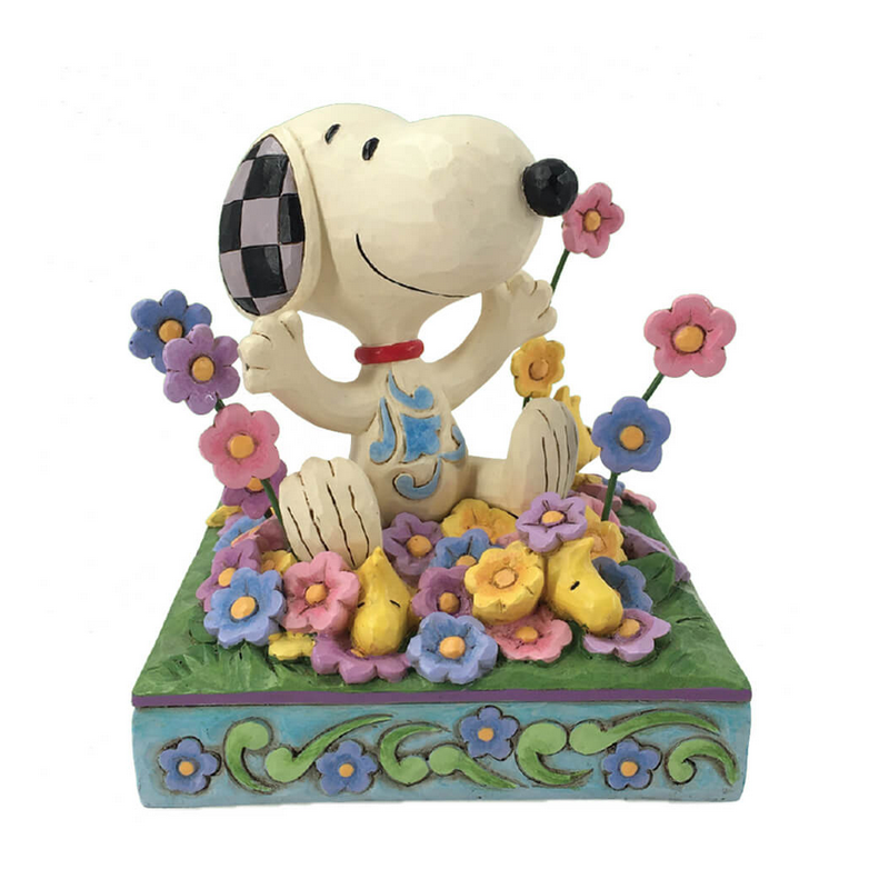 Peanuts by Jim Shore Snoopy In Flowers