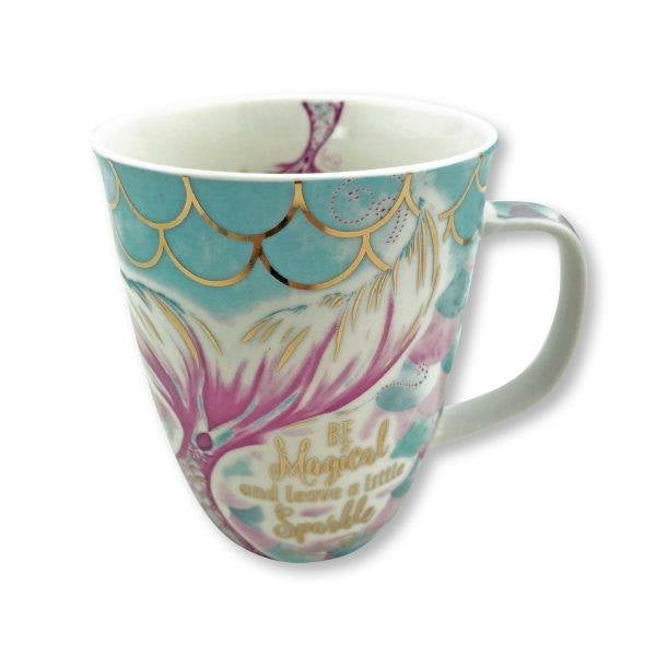 Be Mermagical Mermaid Tail Coffee Cup with Gift Box