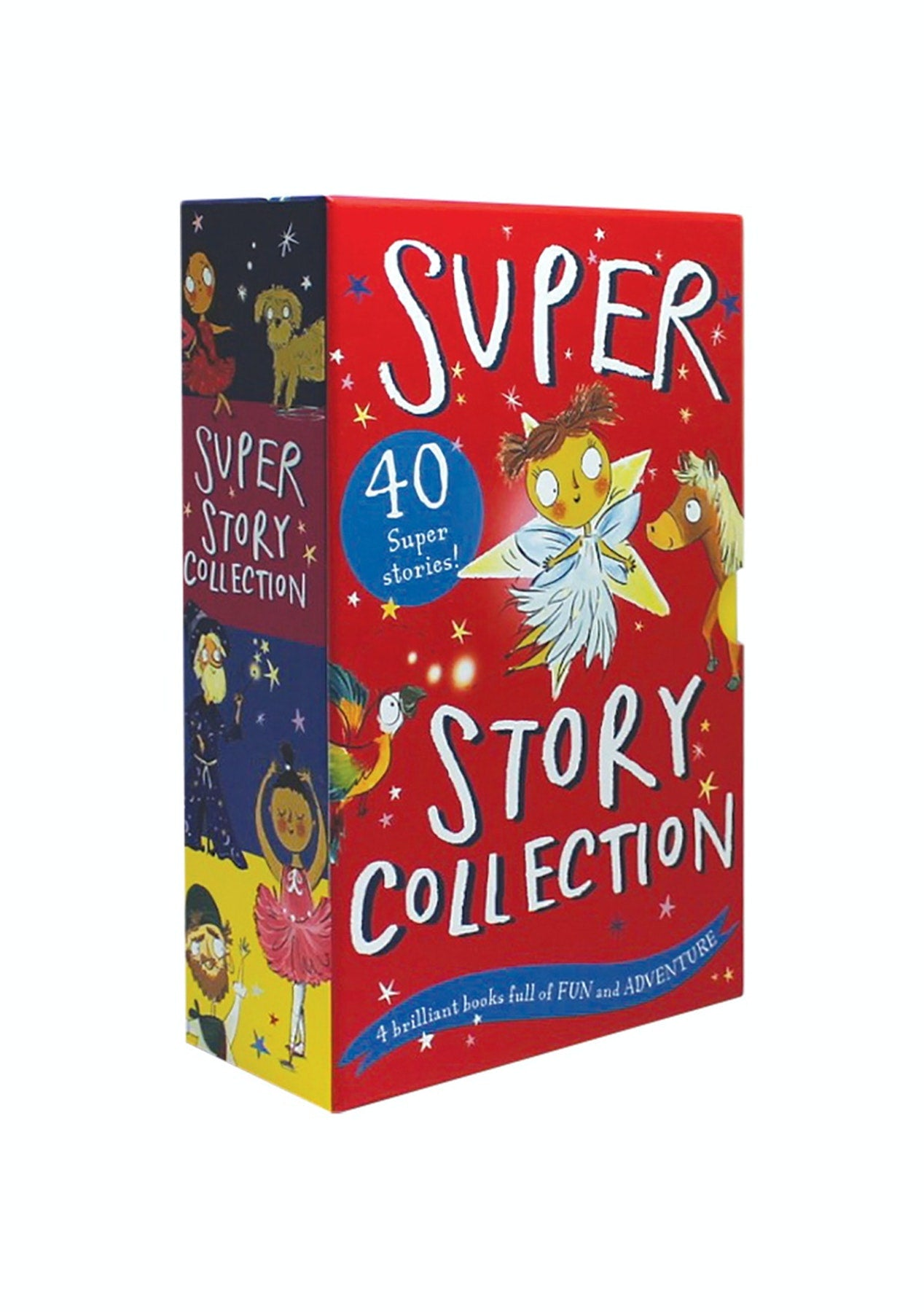 Super Story Collection 40 Book Set Ballet, Fairy, Adventure & Pony Kids Gift