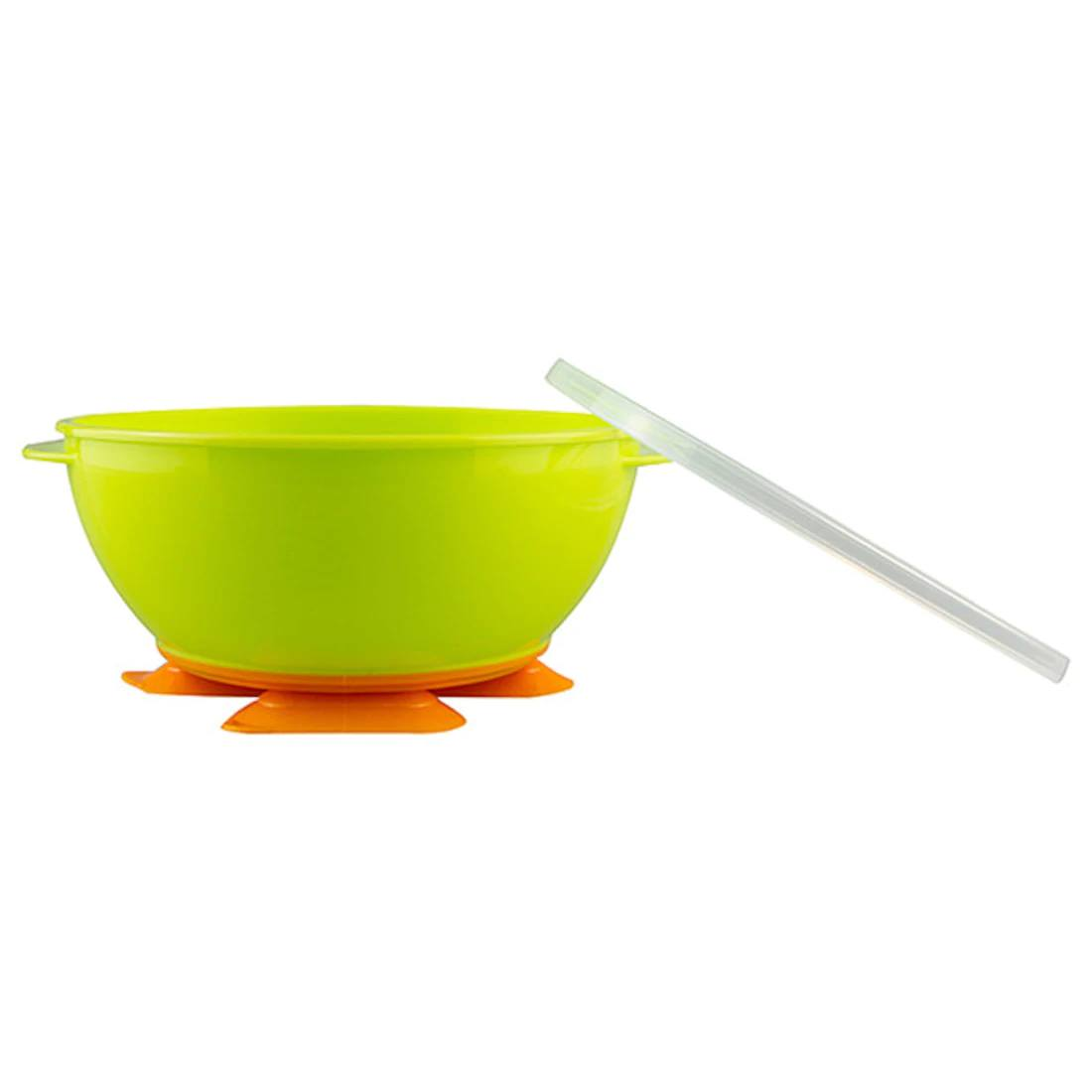 2 Tri-Suction Bowls - Green & Orange 9+ months
