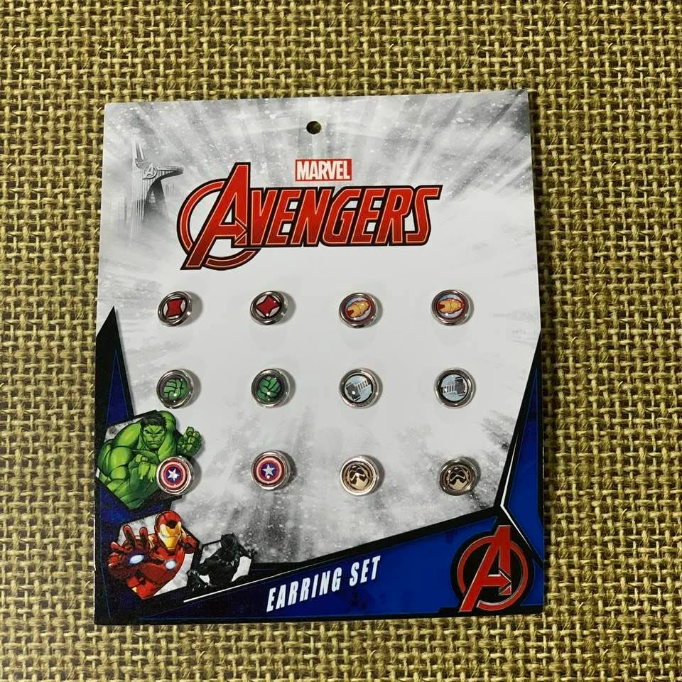 Marvel Avengers Collectables 12 Pce Metal Earring Set Original Licensed Product