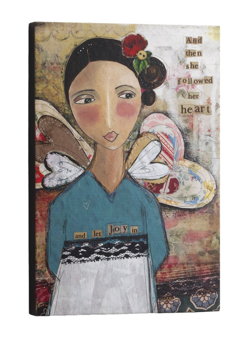 Follow Her Heart Kelly Rae Wall Art 12inch
