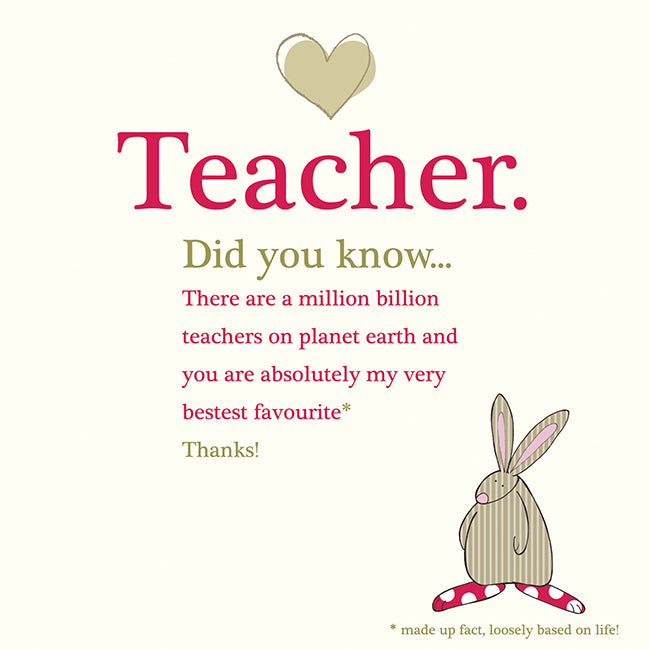 Rufus Rabbit Teacher