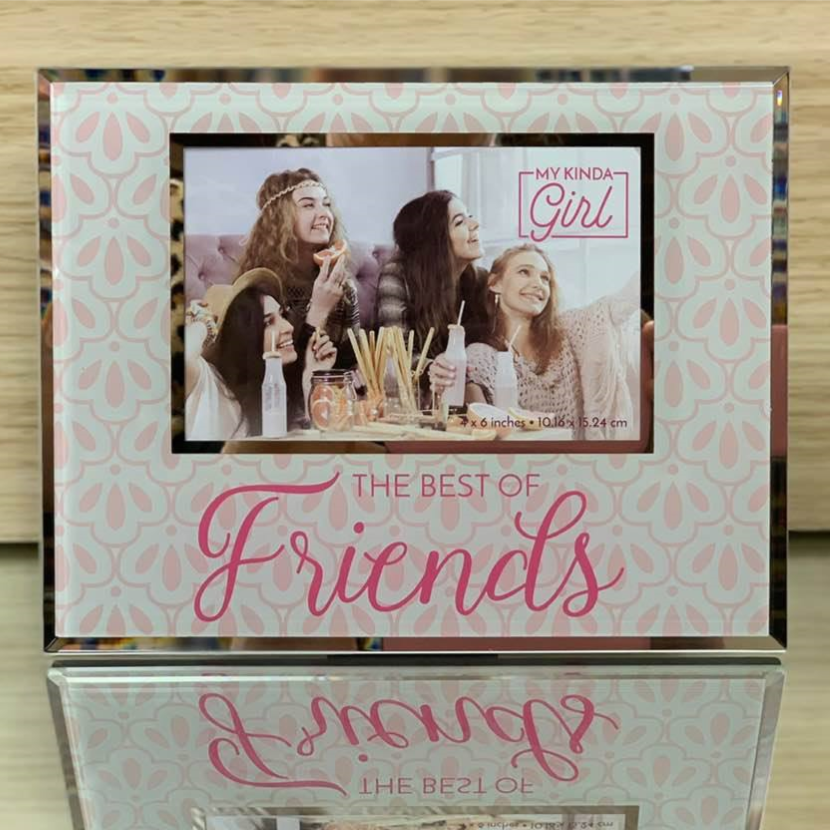 Gorgeous Glass Friends Photo Frame