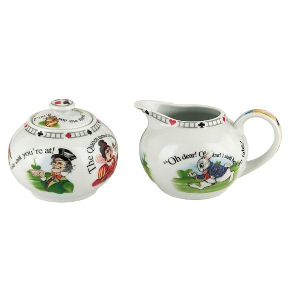 Cardew Design - Alice In Wonderland Milk Jug & Sugar Bowl (Set of 2)