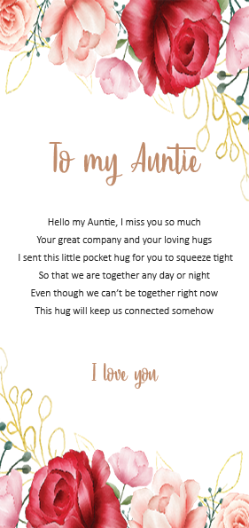 Auntie - little pocket hug