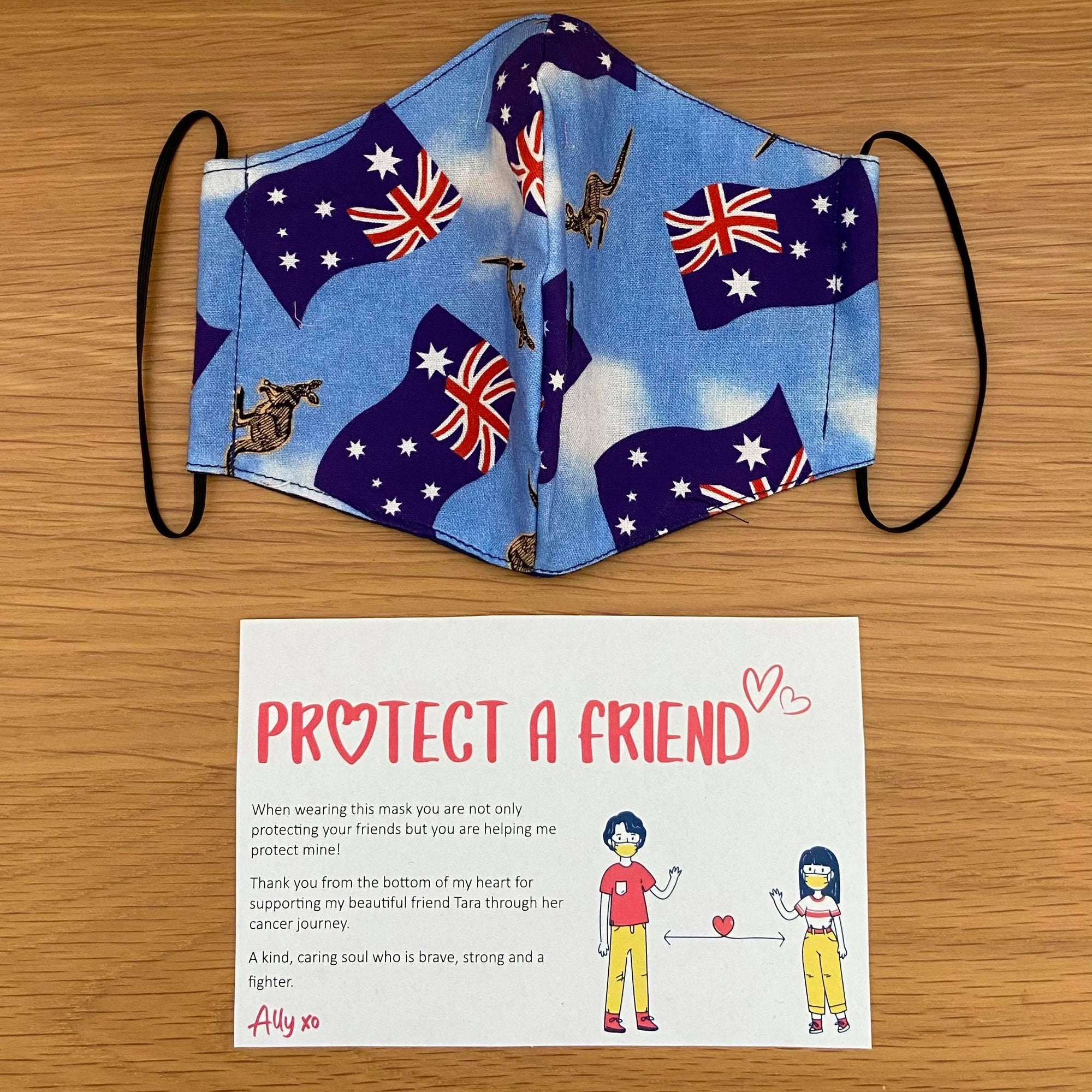 Aussie Flag and Kangaroo Face Mask