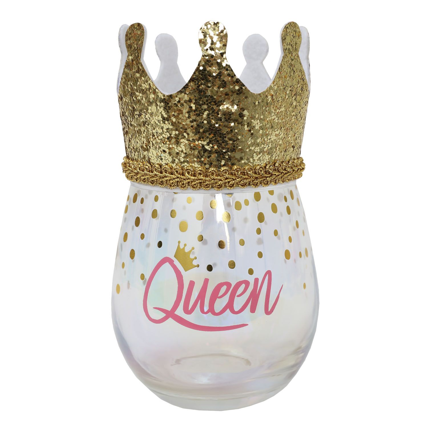 Queen Celebration Glass
