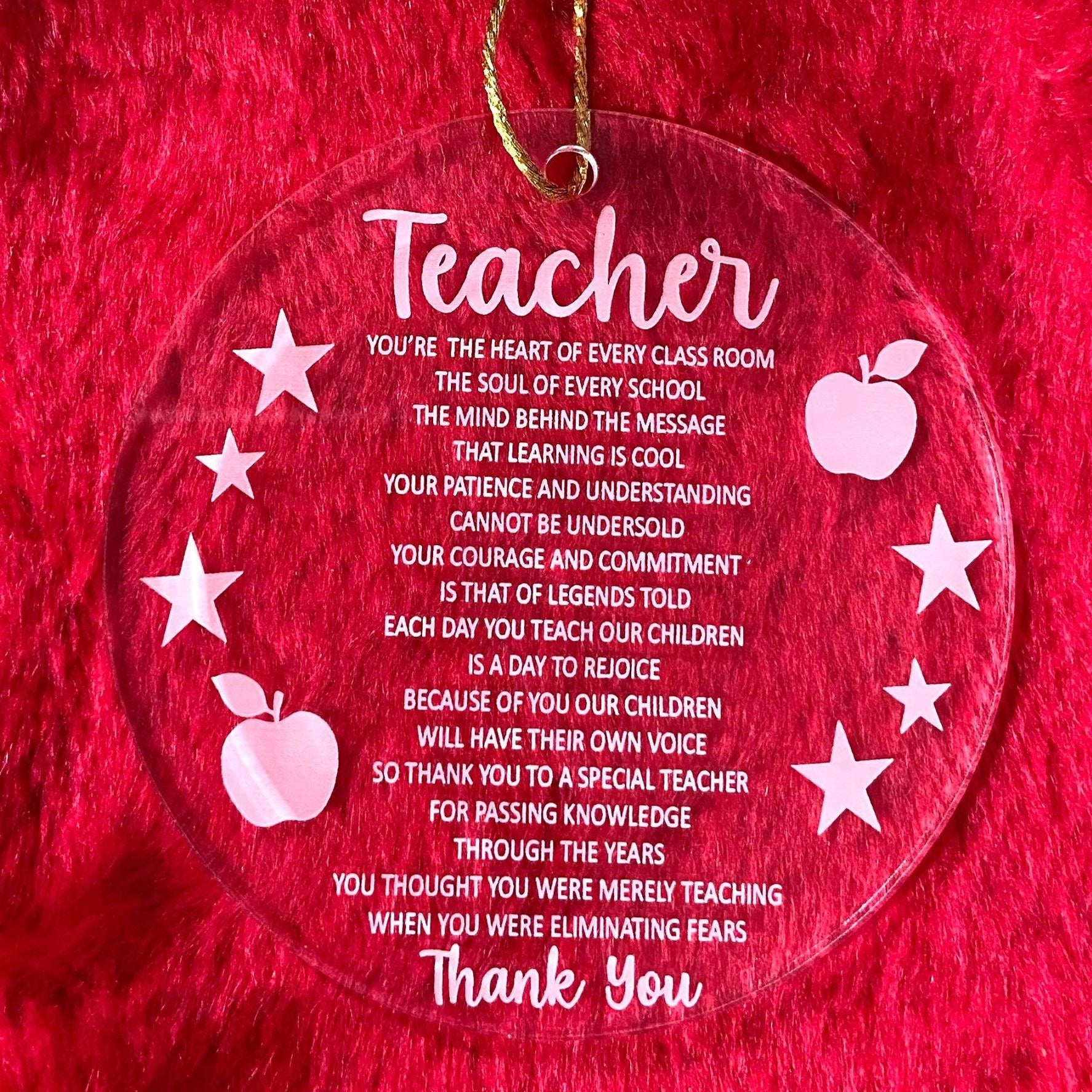 Teacher Christmas Decoration
