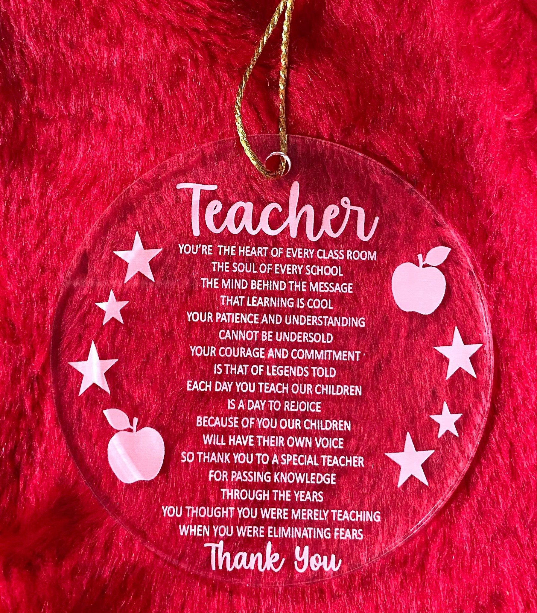 deal - Teacher Christmas Decoration with Christmas Card