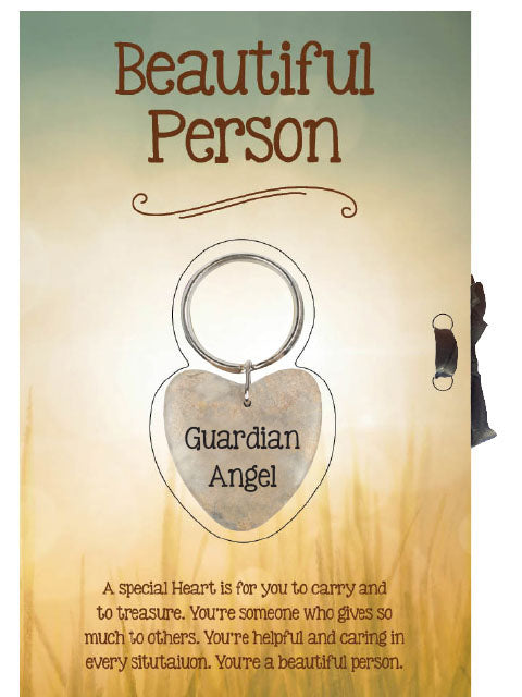 Guardian Angel Keyring with Card - Beautiful Person