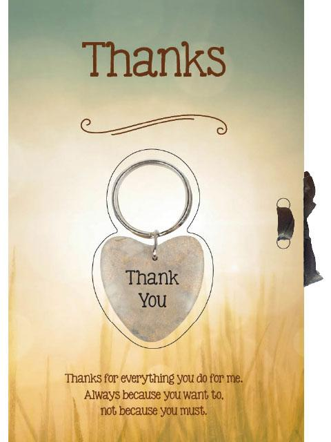 Thank You Keyring with Card