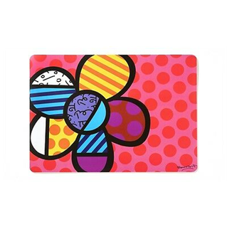 4 x Large Vinyl Placemat Flower - Romeo Britto