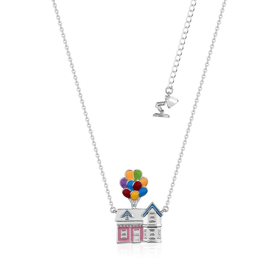 Disney Pixar UP House WG plated necklace with enamelling