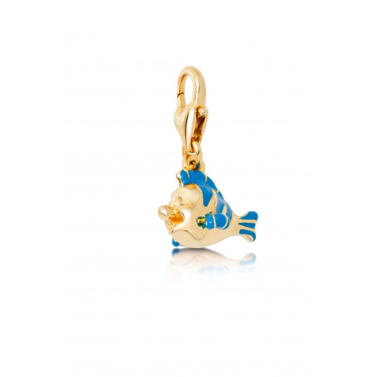 Flounder Enamel Charm Little Mermaid