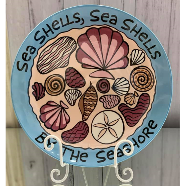 Sea Shells by the Sea Shore Platter