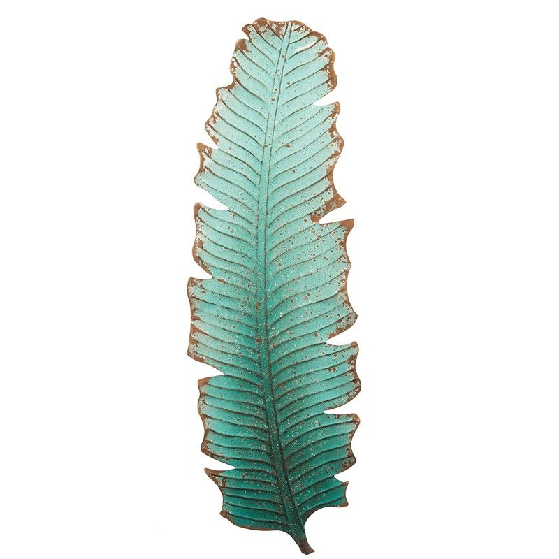 Blue Banana Leaf Wall Art