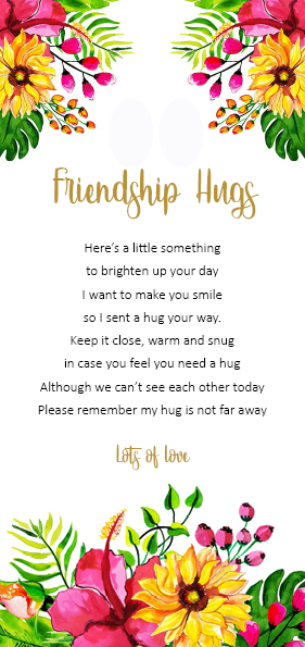 Friendship Hugs - little pocket hug