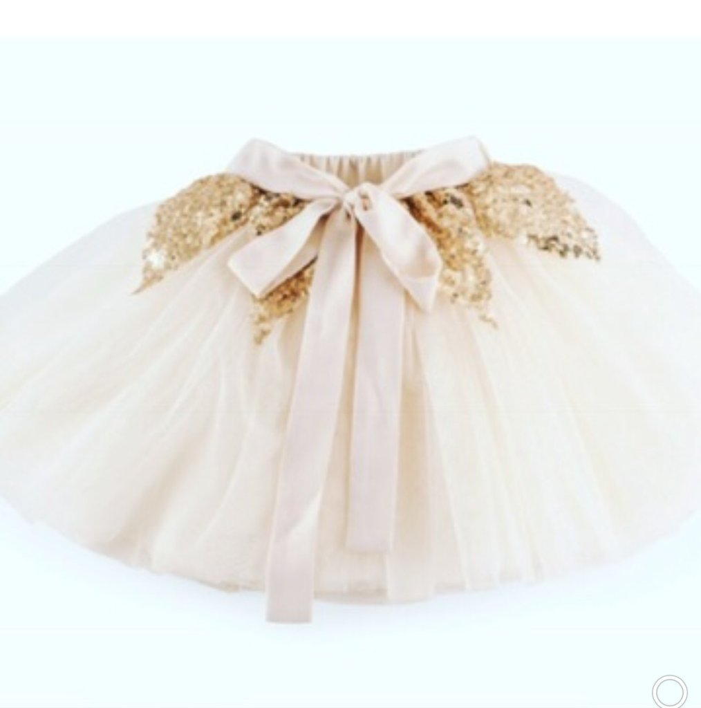 SEQUIN TUTU SKIRT CREAM by Miss Sister Rose Violet