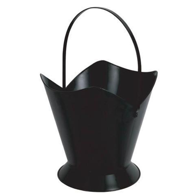 Melton Craft Large Fire Wood Bucket Black - floor