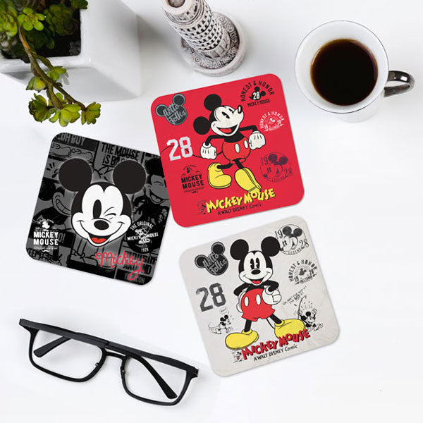 Vintage Mickey Set of 6 Coaster Set