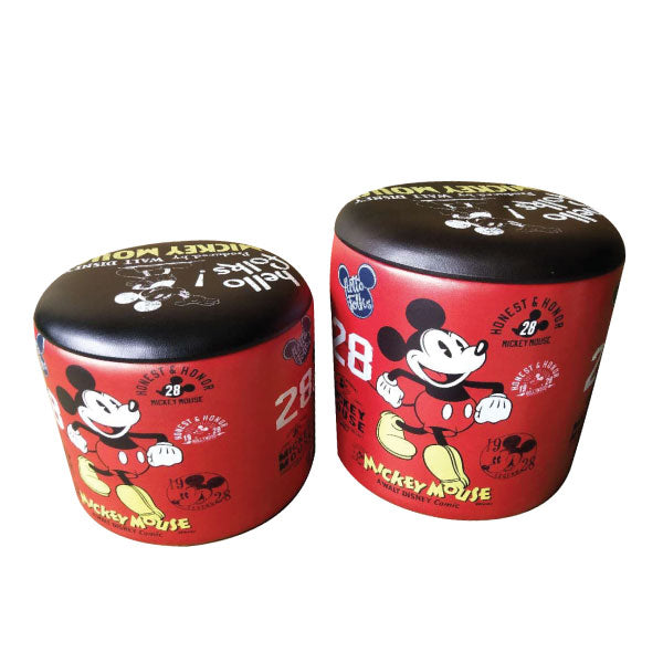 Vintage Mickey Mouse Storage Ottoman Small