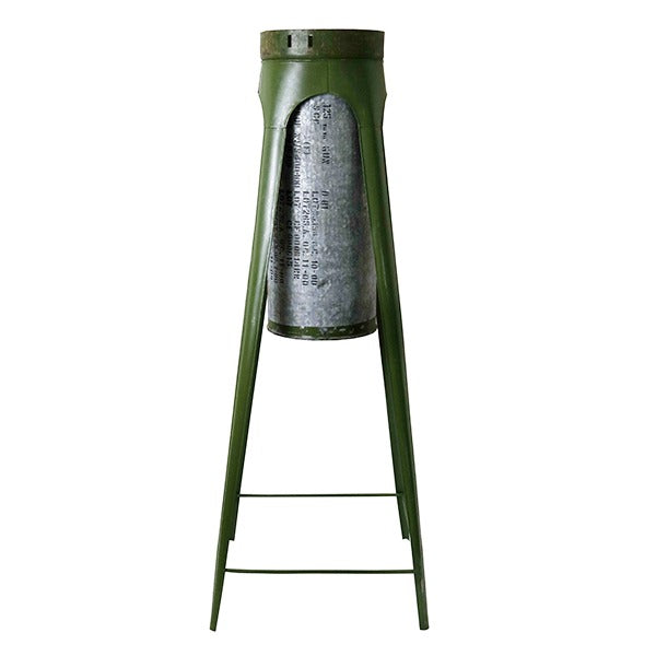 Military Flower Cannister and Stand – Large