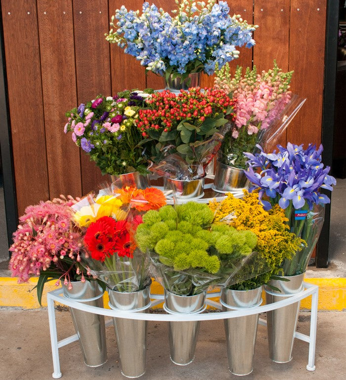 Flower Display Racks with 9 Flower Buckets