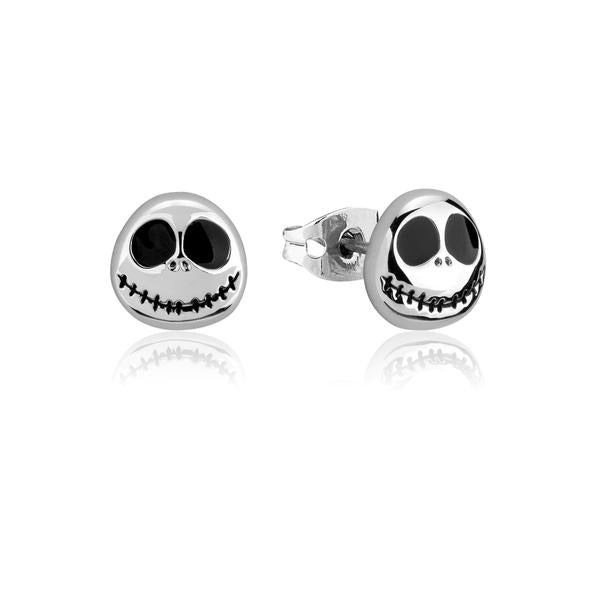 The Nightmare before Christmas Jack Skellington Stud earrings with WG plating and black enamel