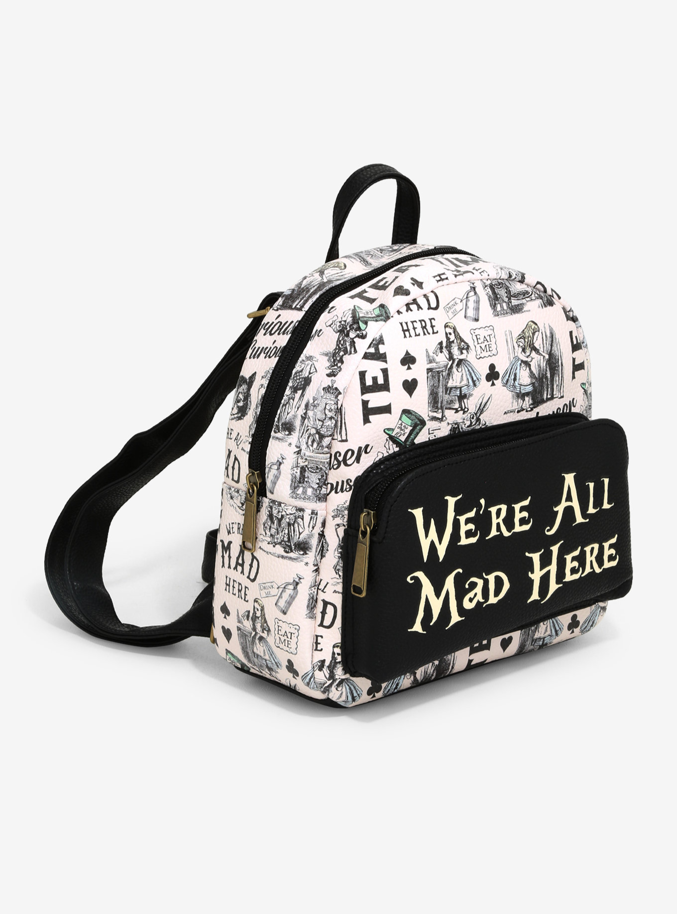 ALICE IN WONDERLAND SKETCH MINI BACKPACK