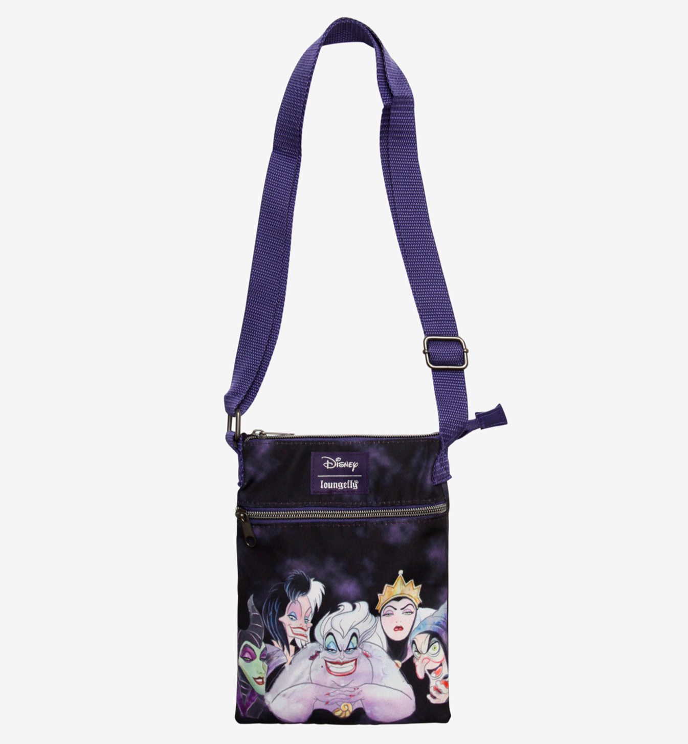 Loungefly Disney Villains Acid Wash Passport Crossbody Bag