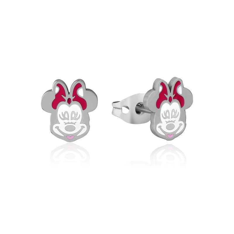 DISNEY COUTURE KINGDOM STAINLESS STEEL - MINNIE MOUSE - ENAMEL STUD EARRINGS