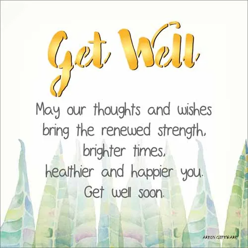 LED Message Block - Get Well