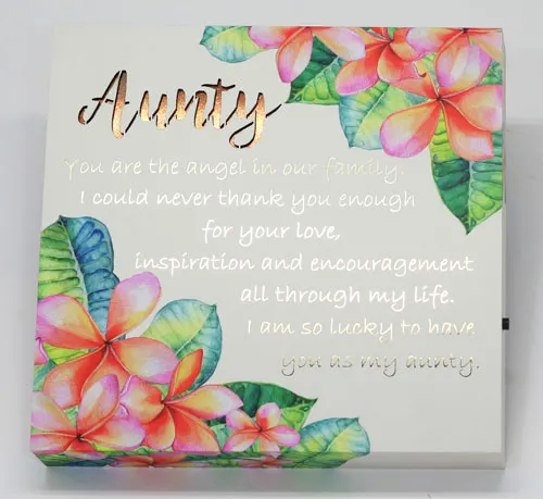 Garden of Love LED Plaque Aunty