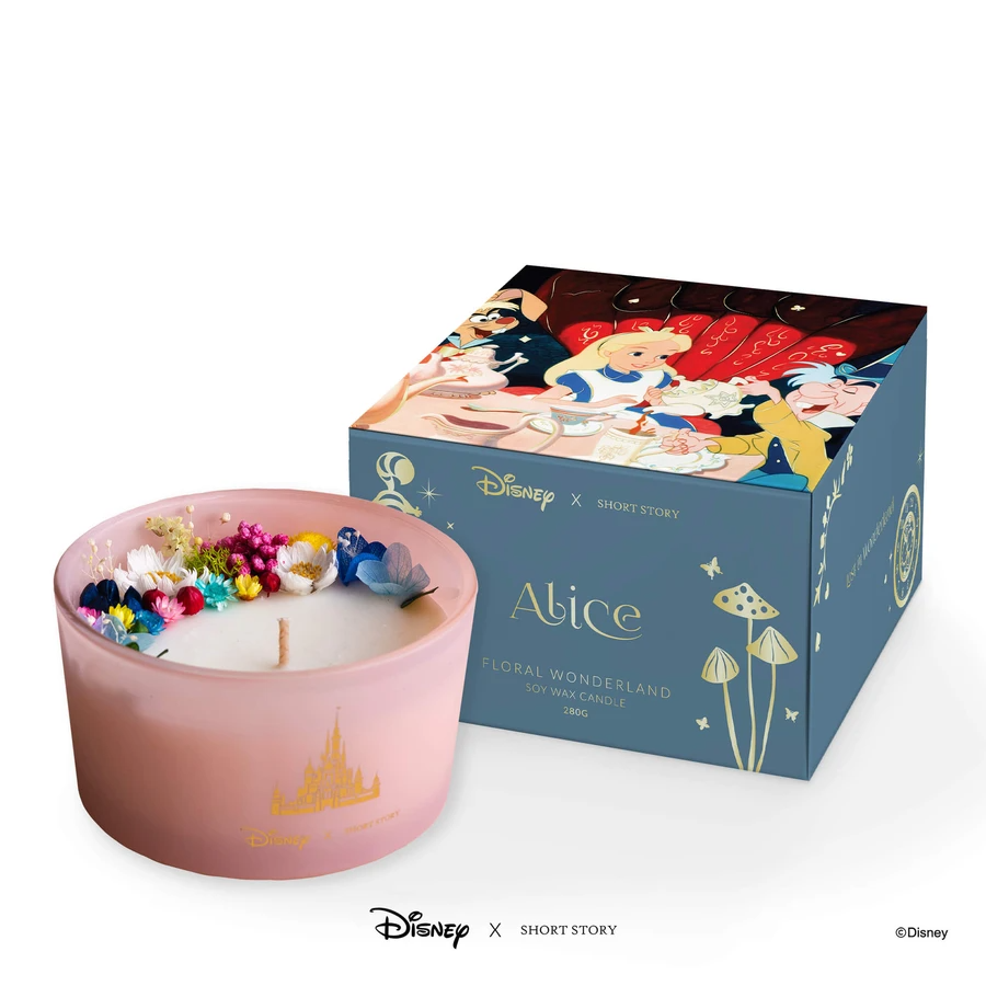 ALICE IN WONDERLAND  CANDLE - DISNEY SHORT STORY