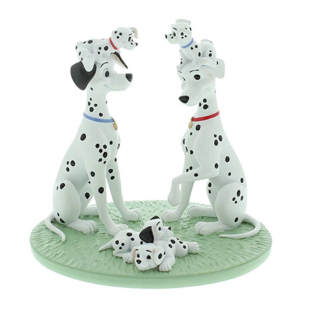 DISNEY MAGICAL MOMENTS 101 DALMATIANS: FIGURINE 101 DALMATIANS 'ONE BIG HAPPY FAMILY'